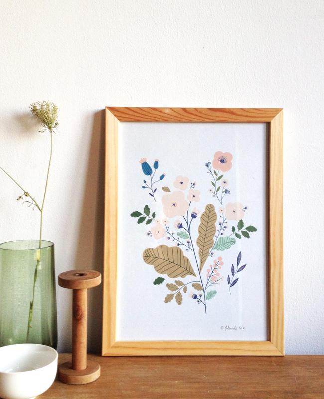 illustration végétale mademoiselle yo etsy affiche botanique
