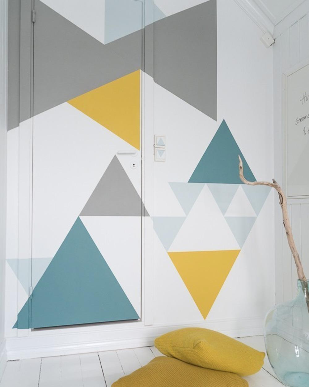 mur géométrique diy