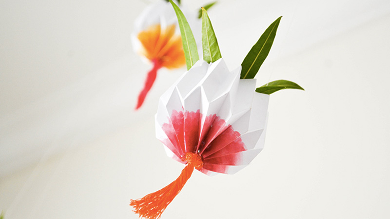 jardin pot suspendu papier diy