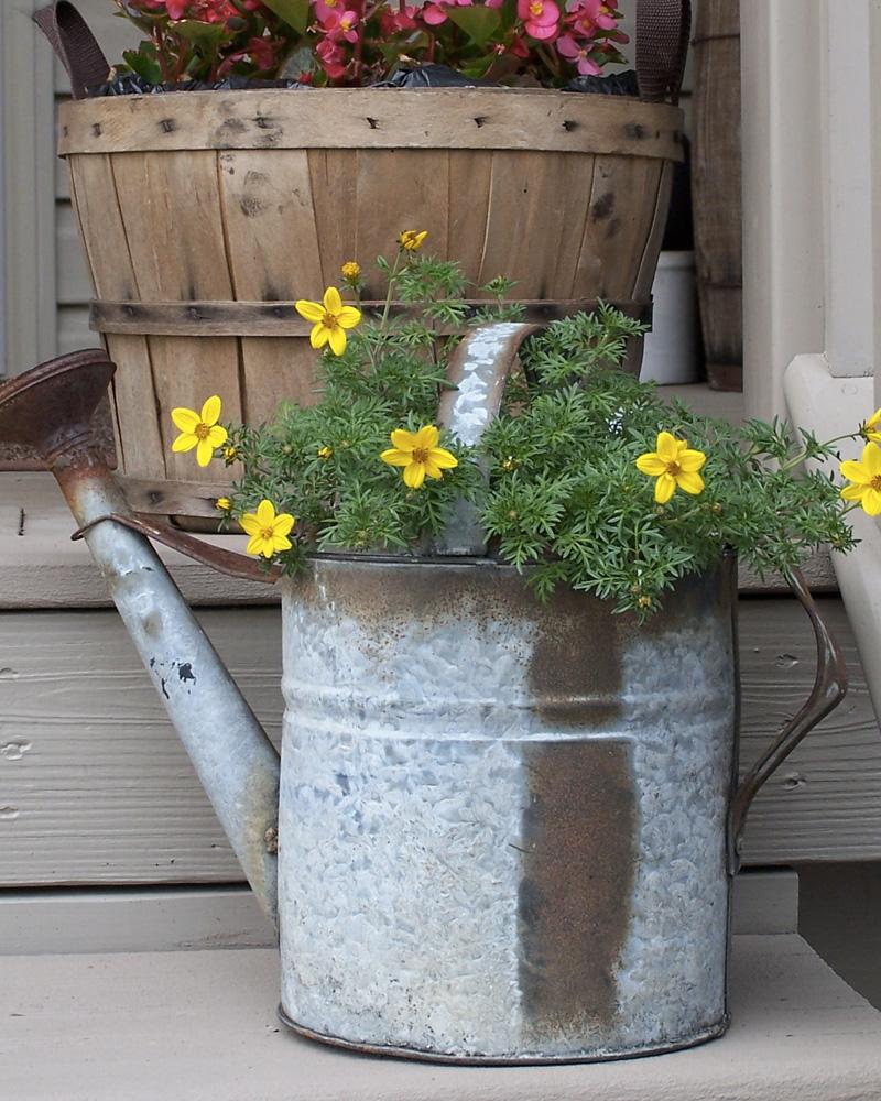 jardinière diy arrosoir