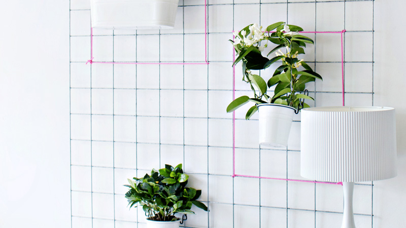 jardin vertical diy grille