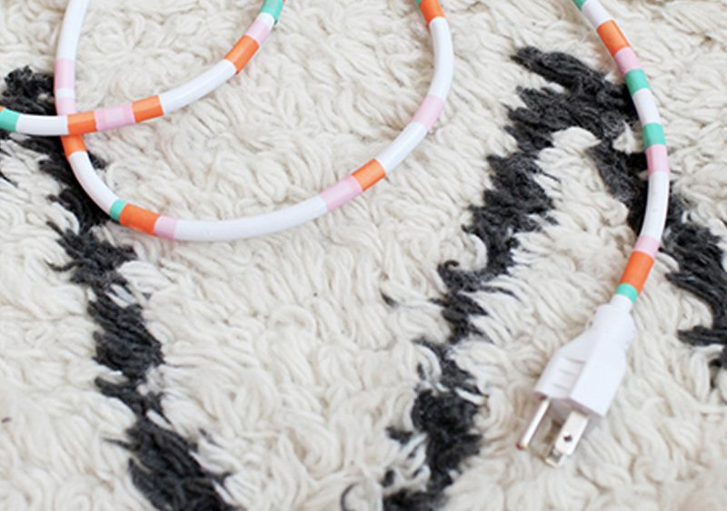 cable masking tape diy