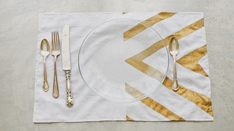 set table doré diy