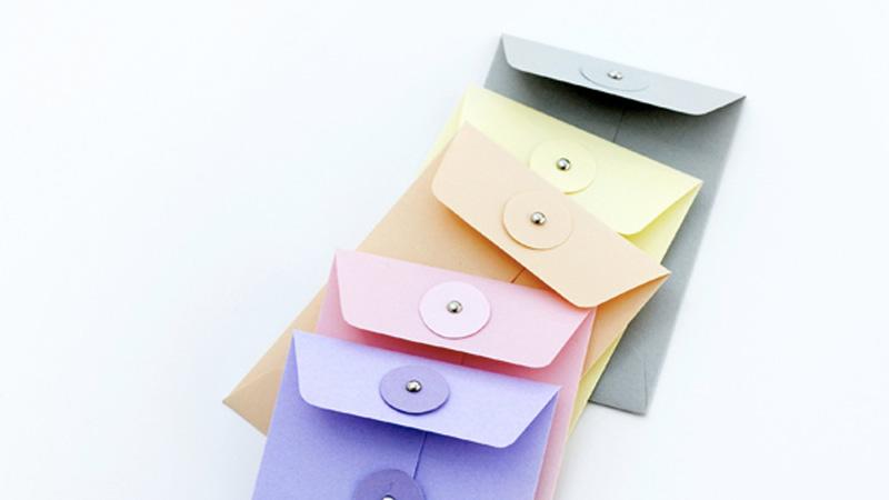 enveloppe colorée diy