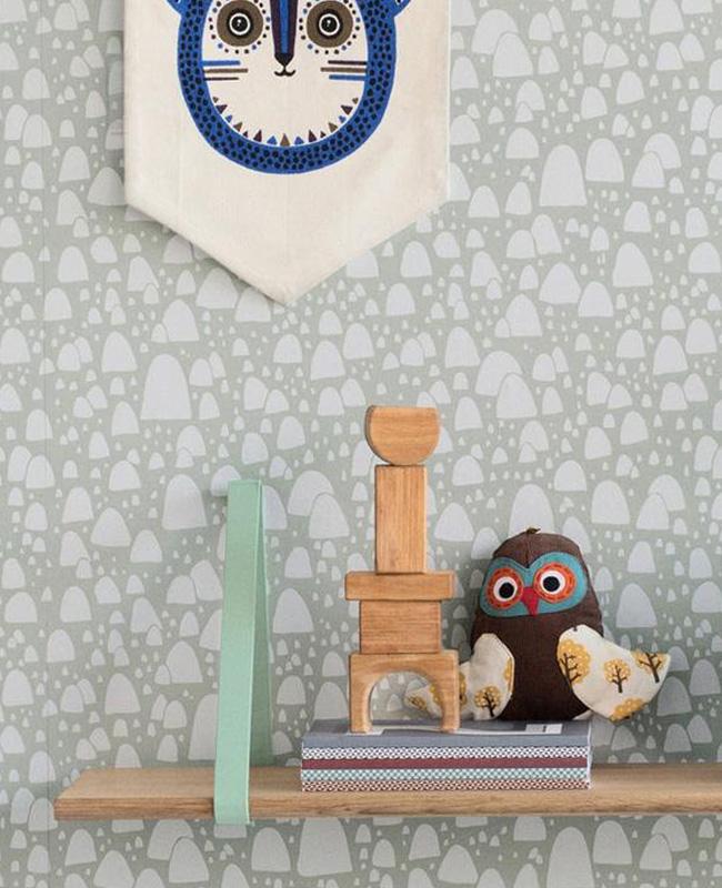 étagère murale lanière cuir diy coloré enfant