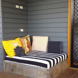 shake my blog un lit d 39 ext rieur diy. Black Bedroom Furniture Sets. Home Design Ideas