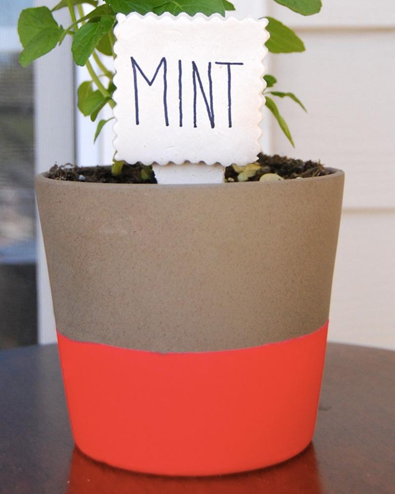 marqueur plante diy fimo