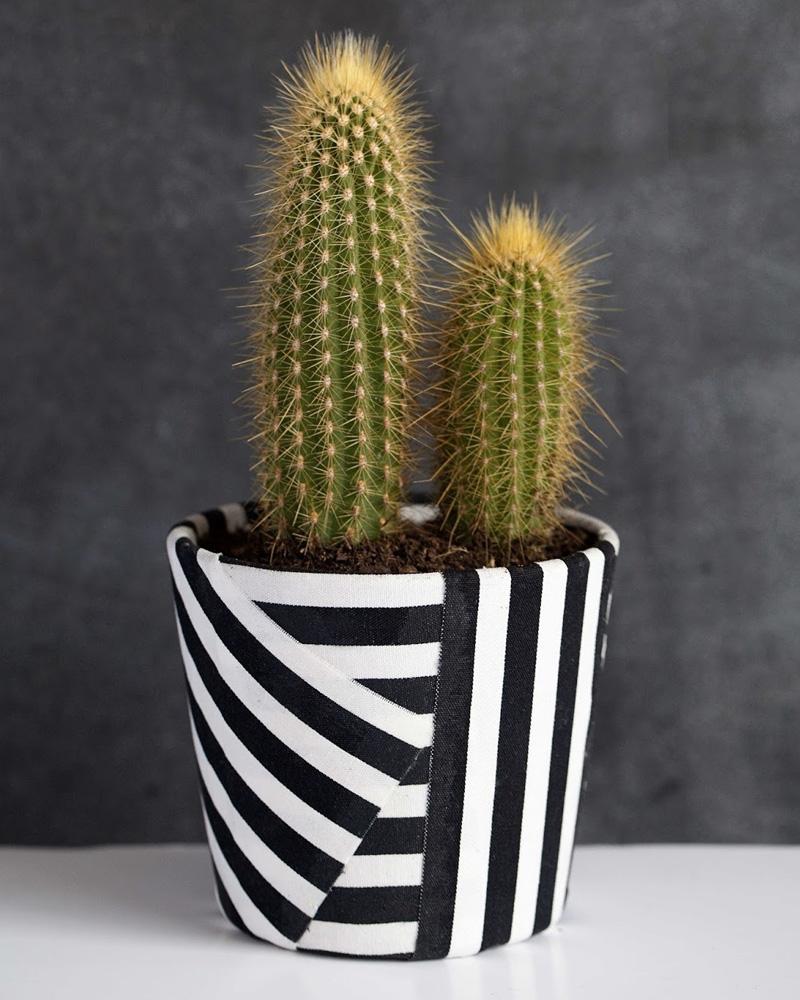Un Pot De Jardin Diy En Tissu Shake My Blog