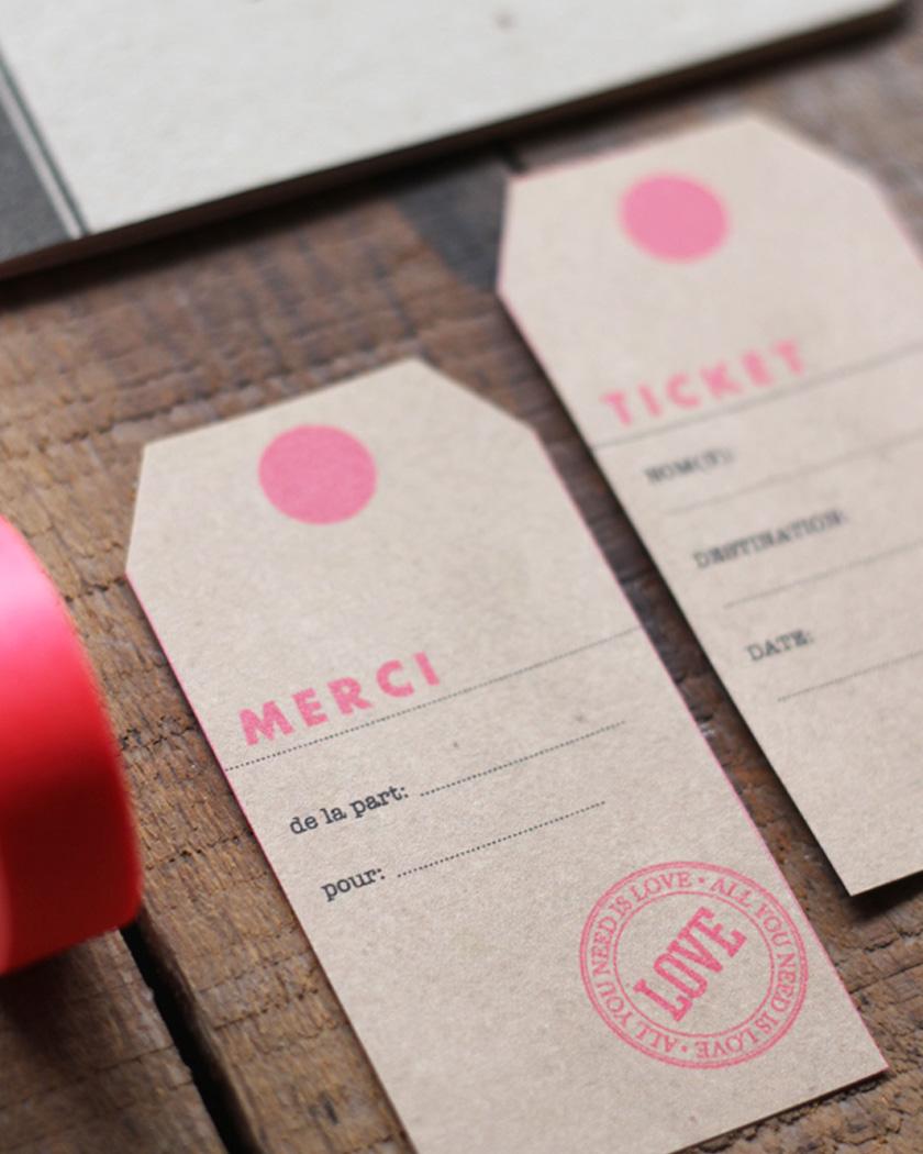 cadeau invite diy mariage étiquette vintage