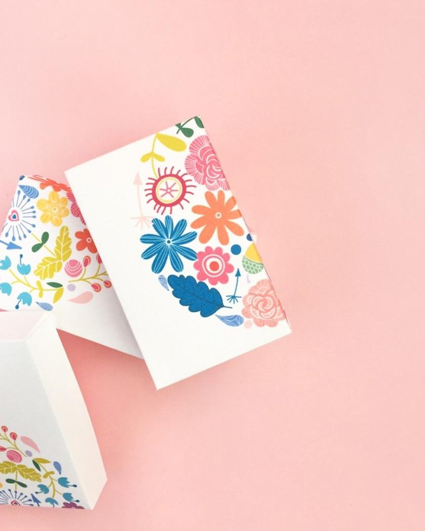 cadeau invite diy mariage boîte fleurs