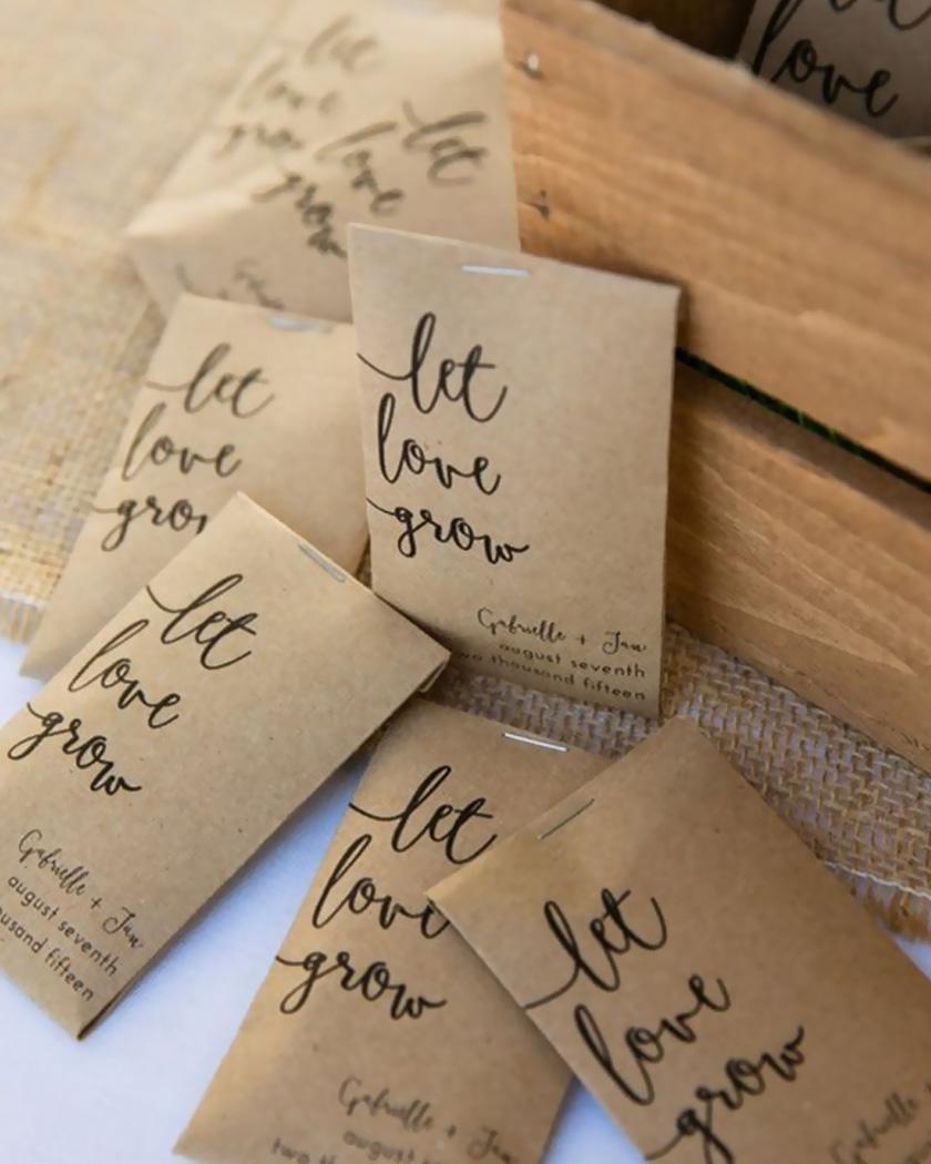 cadeau invite diy mariage graines