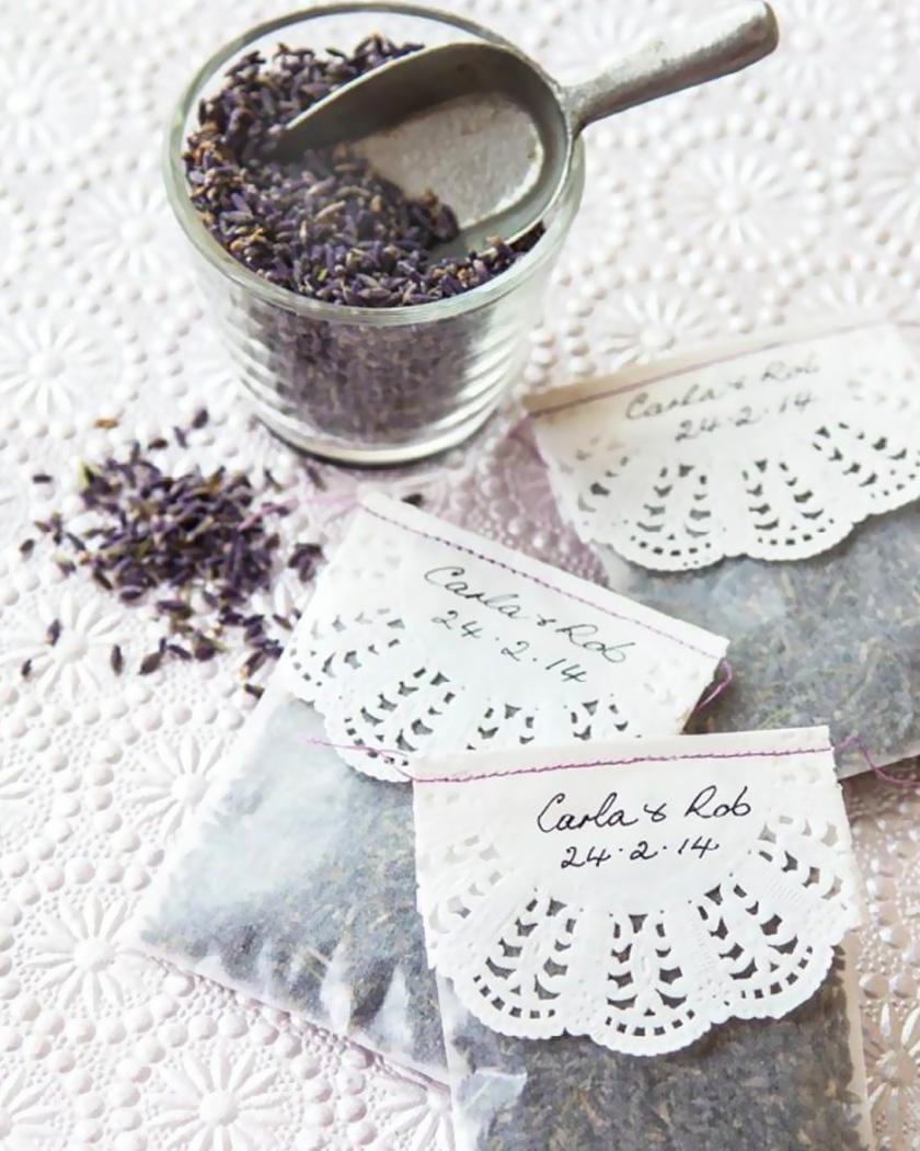 cadeau invite diy mariage lavande