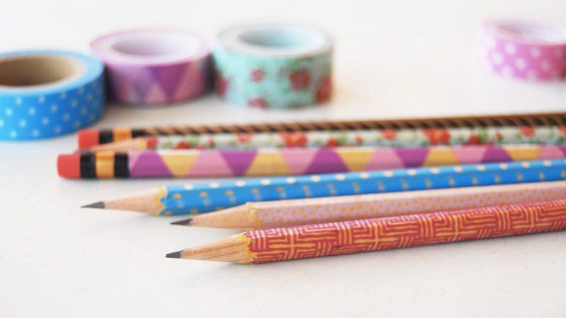 crayon diy masking tape