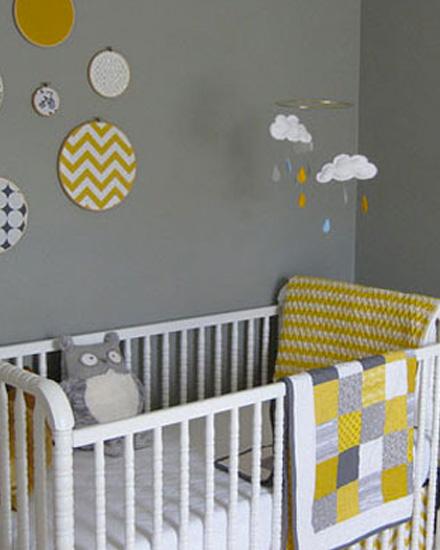 Shake My Blog  Une chambre denfant en gris et jaune