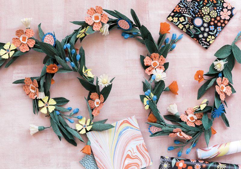 guirlande fleur diy multicolore