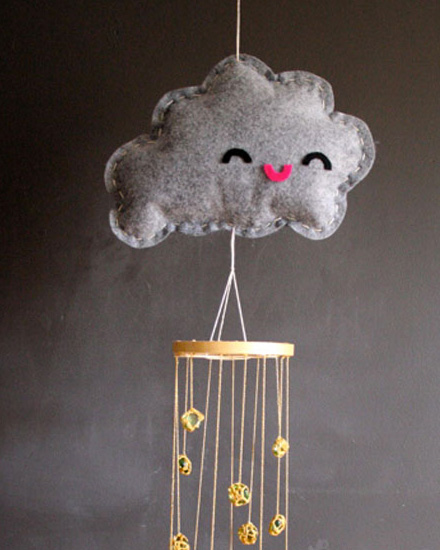 shake my blog un mobile nuage diy. Black Bedroom Furniture Sets. Home Design Ideas