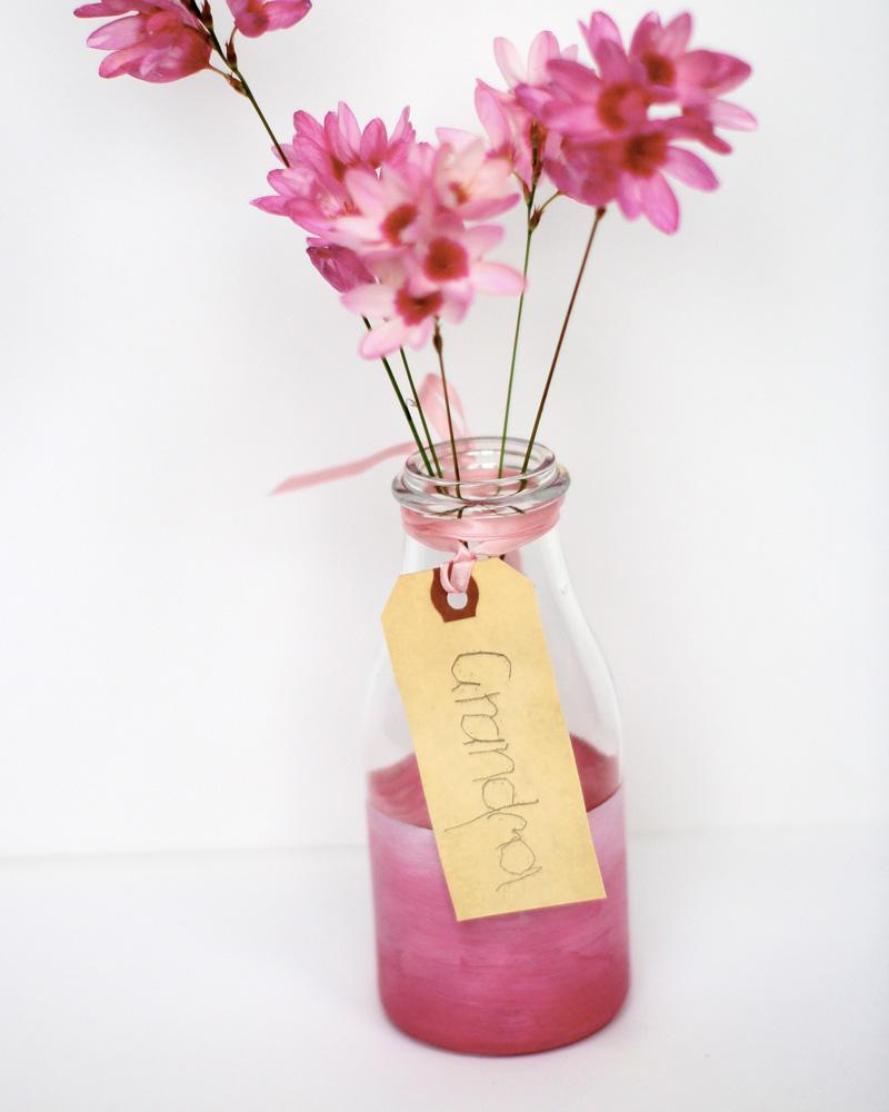 vase ombre diy