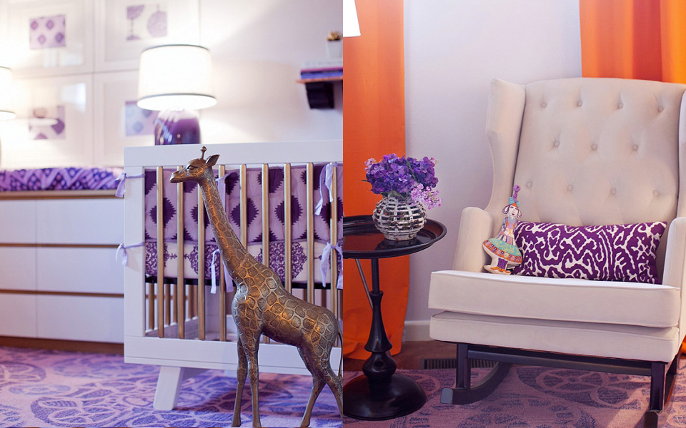 deco enfant violet orange