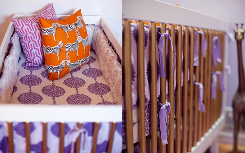deco enfant violet orange