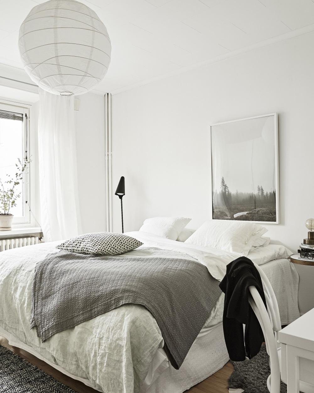 chambre déco blanche et scandinave