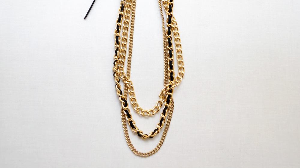 collier chaine dorée diy