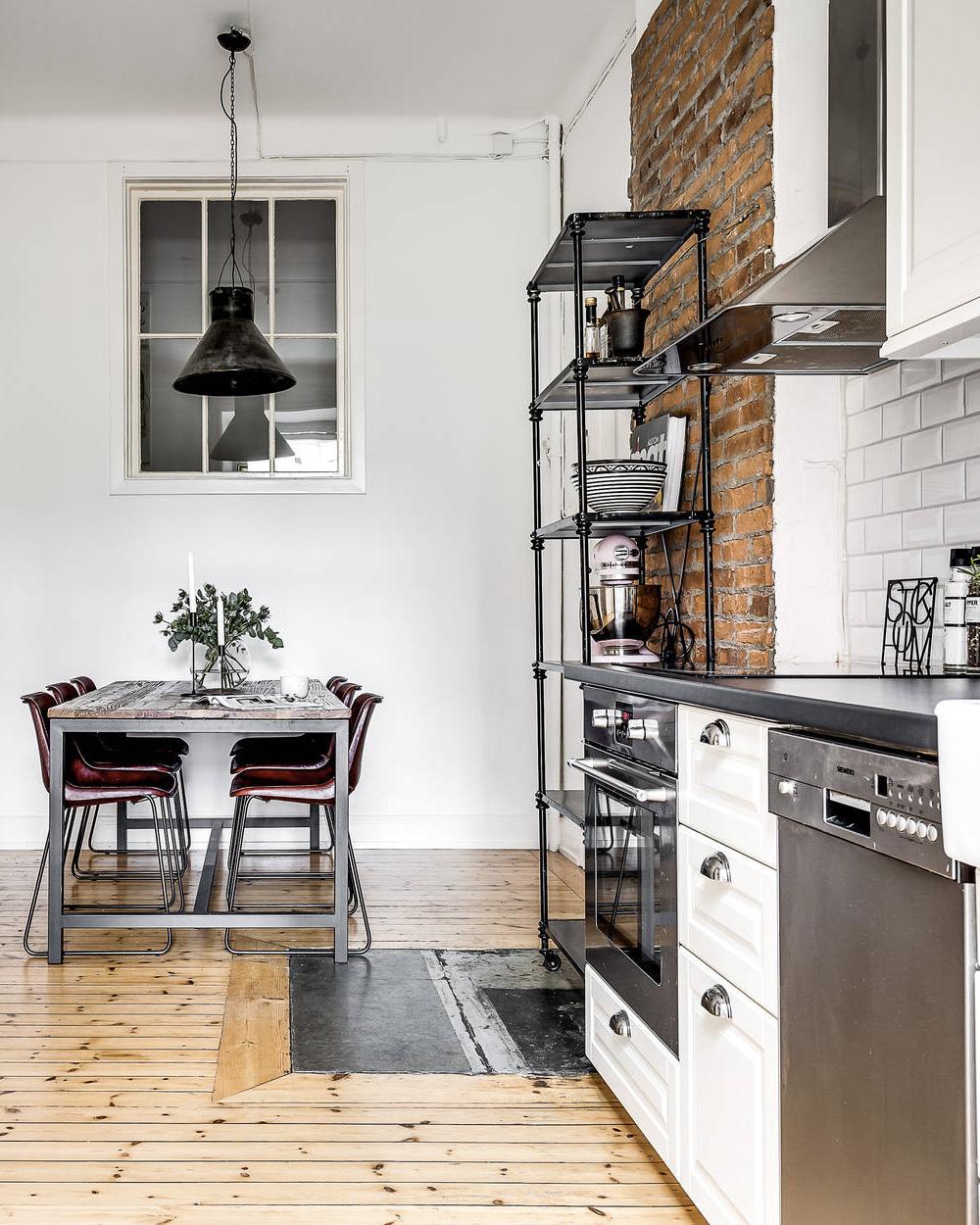 d co scandinave et mur de briques shake my blog. Black Bedroom Furniture Sets. Home Design Ideas