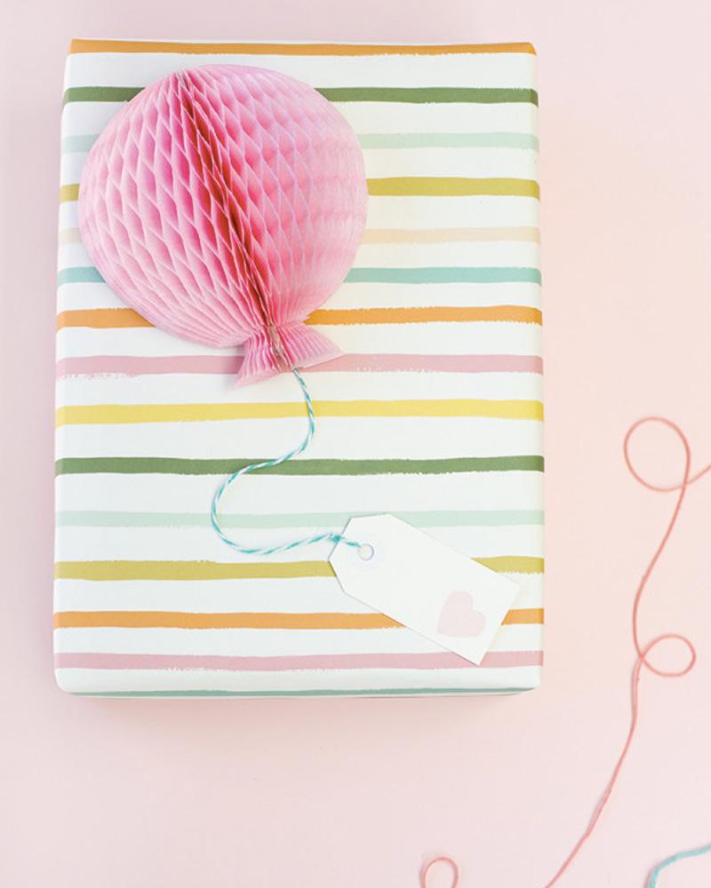 paquet cadeau ballon diy noel