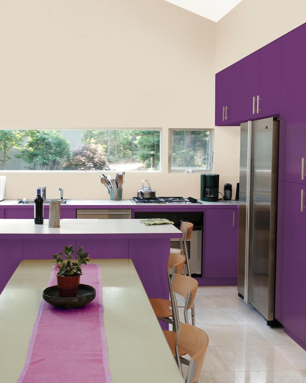Peindre sa cuisine en violet shake my blog - Meuble cuisine violet ...