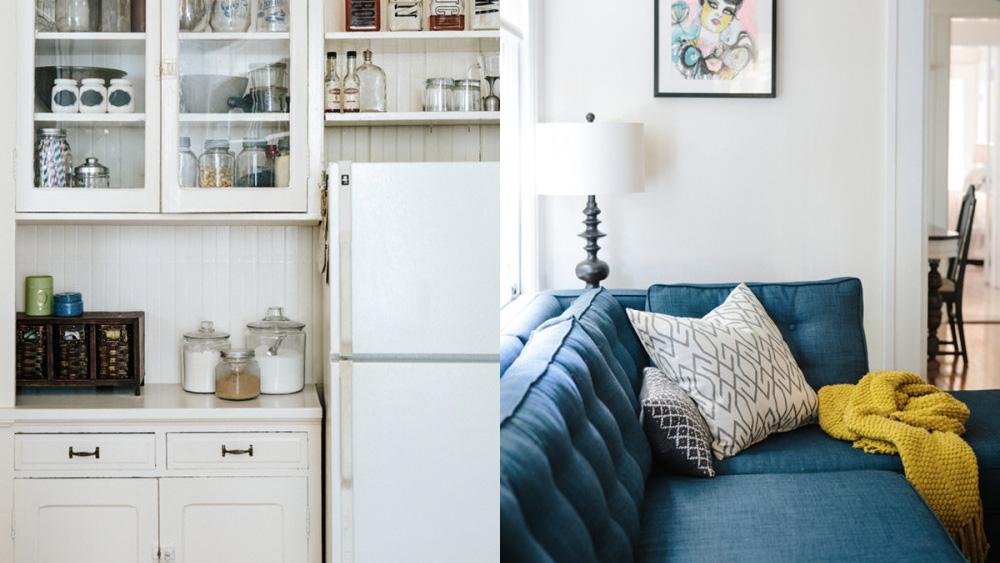 cuisine meubles vintage blancs