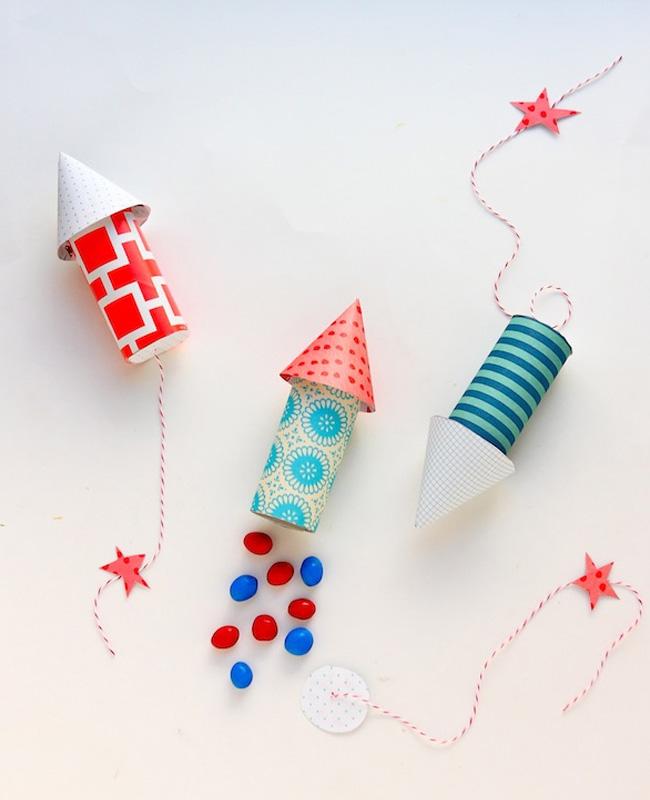 fusée diy enfant carton