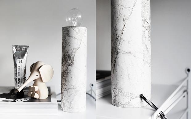 lampe marbre diy