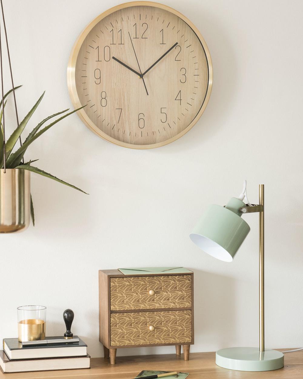 lampe de bureau metal menthe