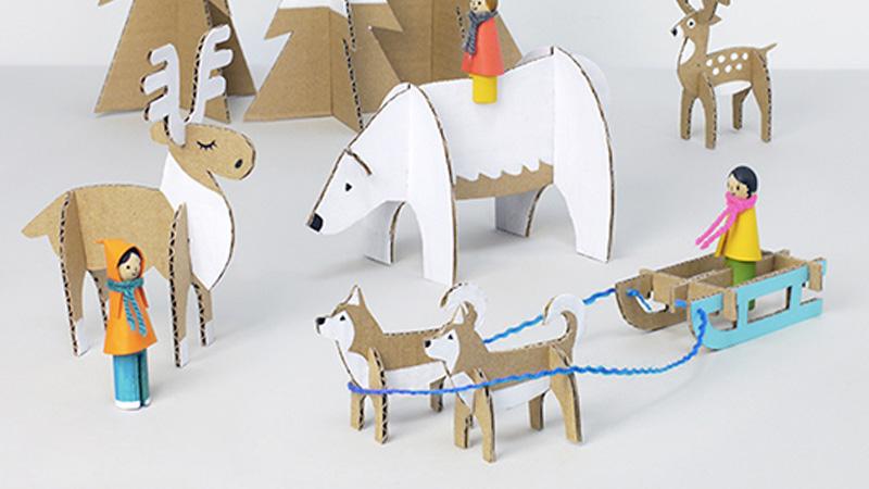 village hiver carton diy enfant