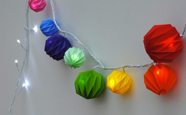 guirlande boule coloree diy