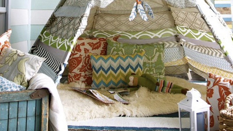 un tipi diy pour les enfants sans couture shake my blog. Black Bedroom Furniture Sets. Home Design Ideas