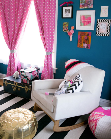 shake my blog une jolie chambre de fille en bleu et rose. Black Bedroom Furniture Sets. Home Design Ideas
