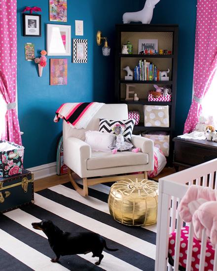 shake my blog une jolie chambre de fille en bleu et rose. Black Bedroom Furniture Sets. Home Design Ideas