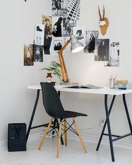 shake my blog get the look un bureau en noir et blanc. Black Bedroom Furniture Sets. Home Design Ideas
