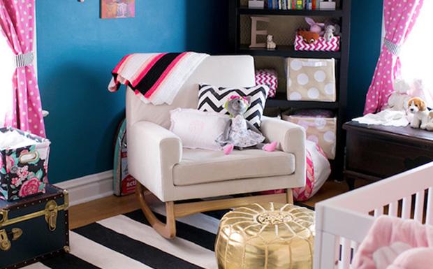 une jolie chambre de fille en bleu et rose shake my blog. Black Bedroom Furniture Sets. Home Design Ideas