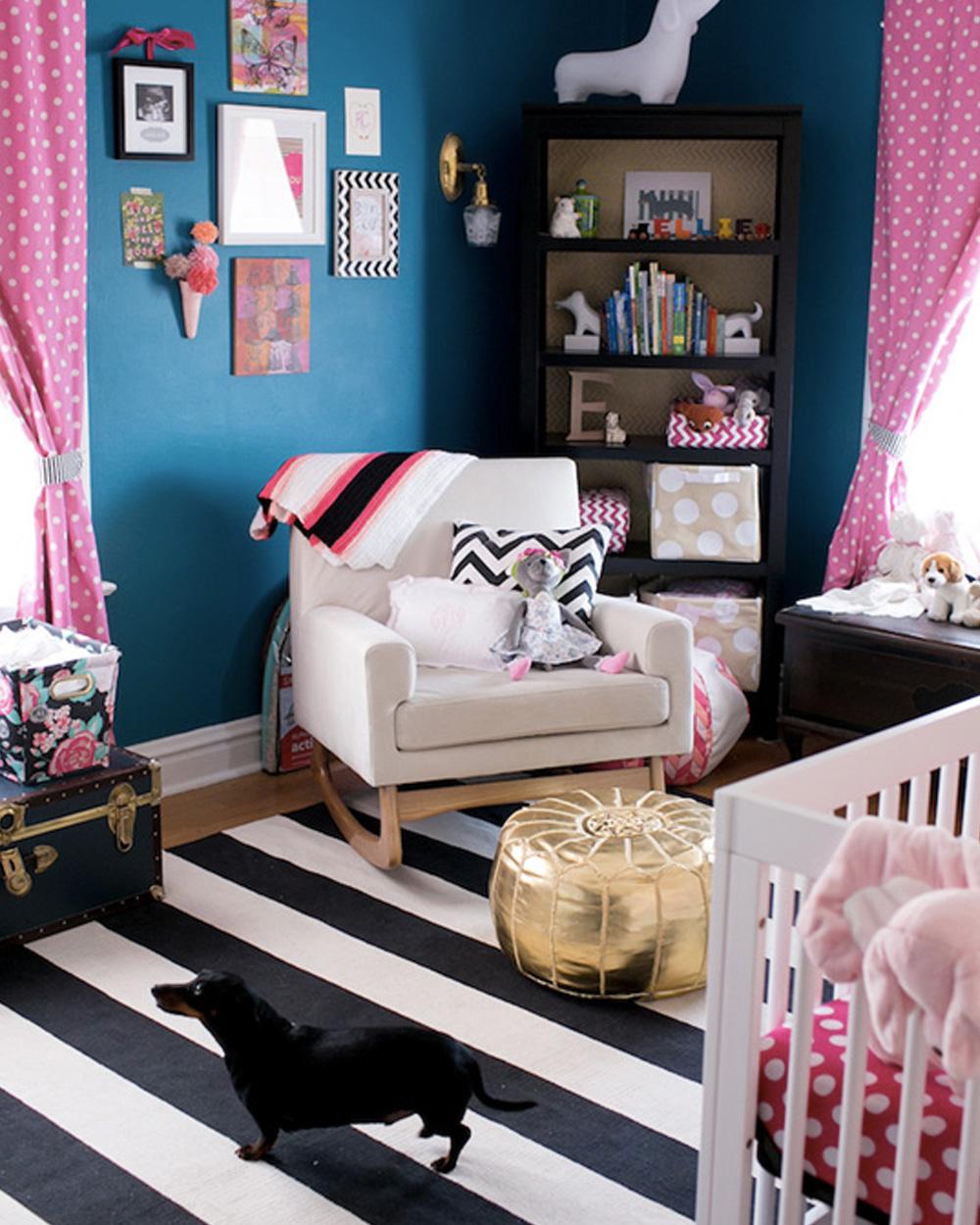 Une Jolie Chambre De Fille En Bleu Et Rose Shake My Blog