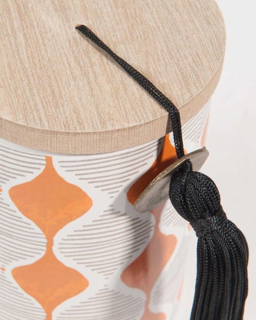 bougie céramique motifs ethniques