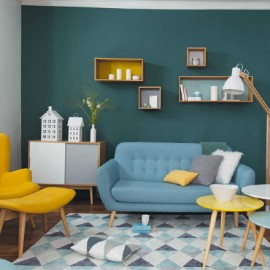 Shake my blog get the look un salon vintage en jaune - Deco salon jaune ...