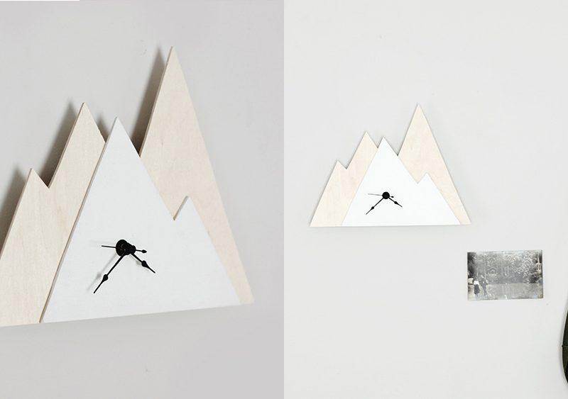 horloge montagne diy