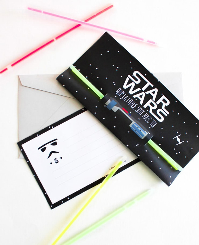 invitation anniversaire star wars à imprimer