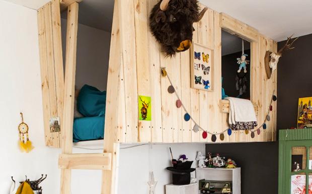 Une mezzanine dans la chambre des enfants shake my blog - Chambre mezzanine enfant ...
