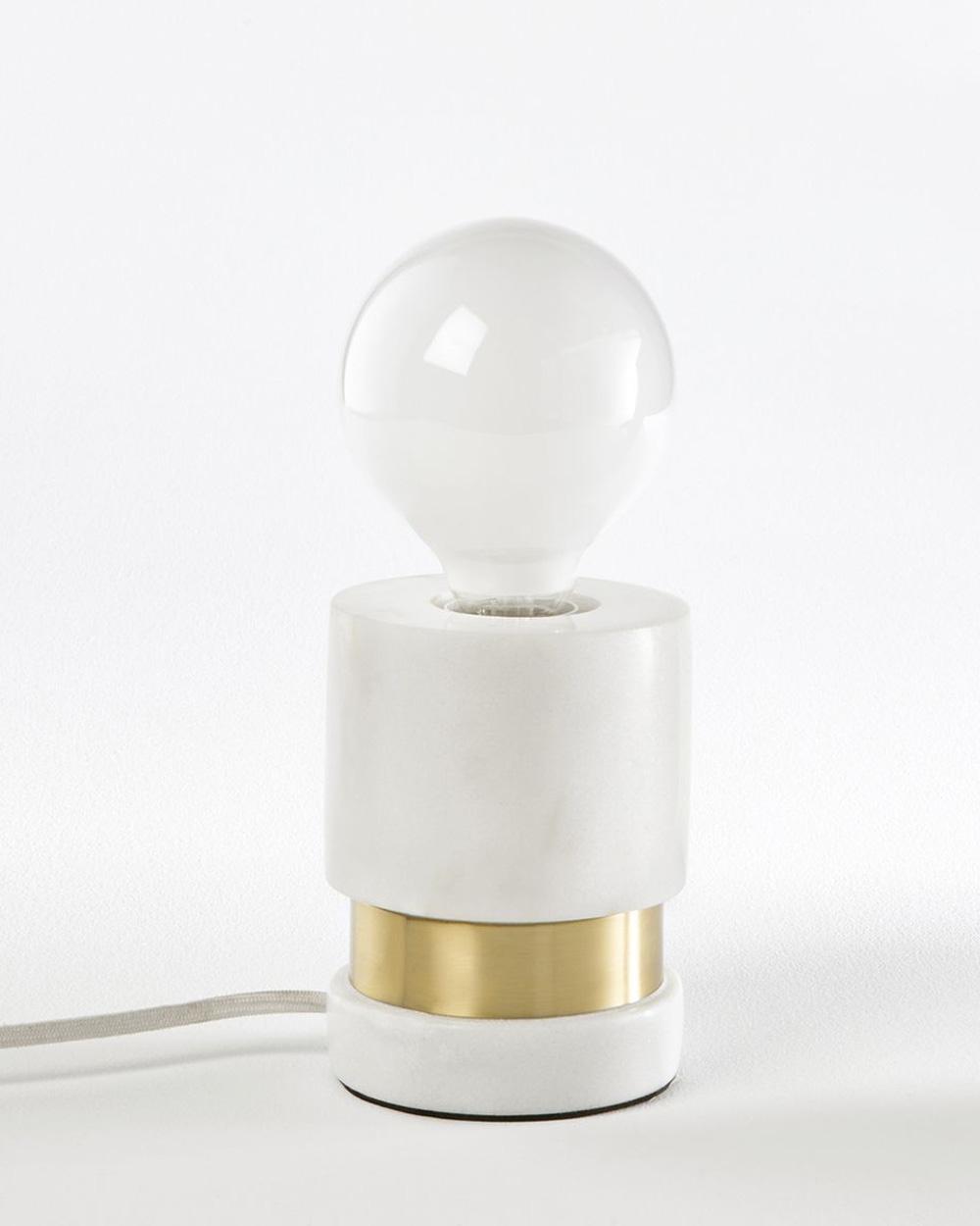 lampe marbre laiton