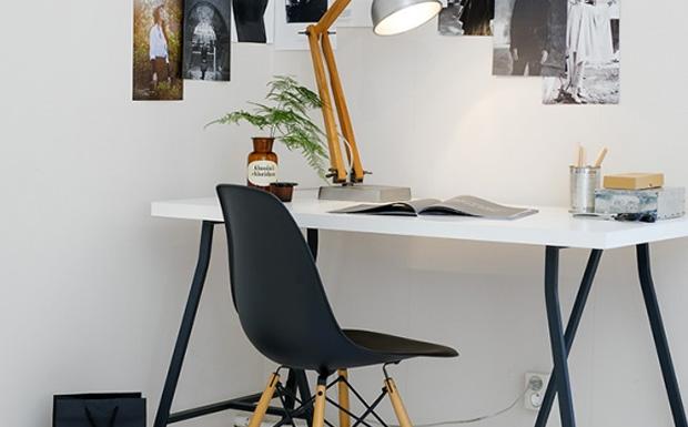 D co bureau noir et blanc for Petit bureau noir