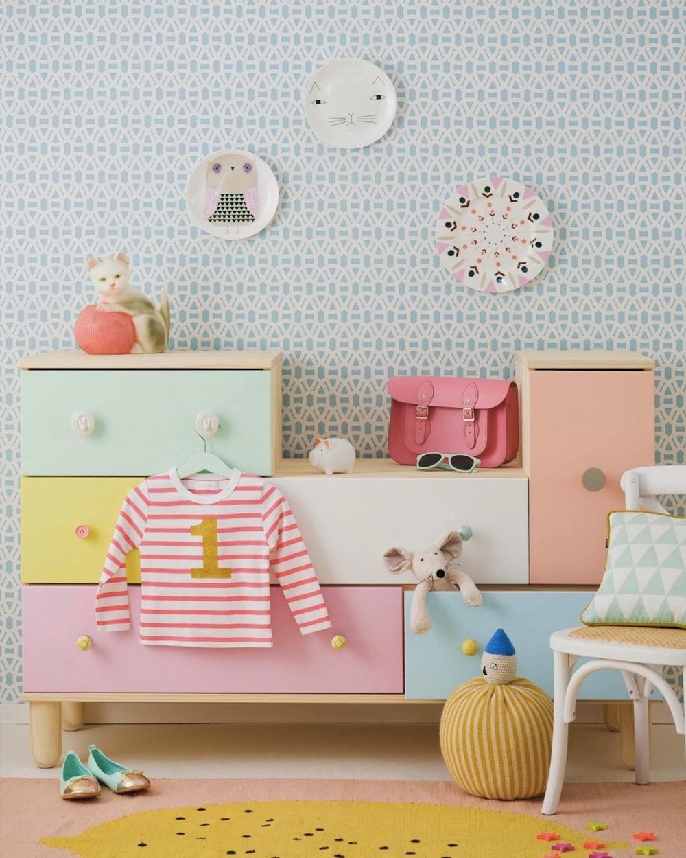 du papier peint dans la chambre des enfants shake my blog. Black Bedroom Furniture Sets. Home Design Ideas