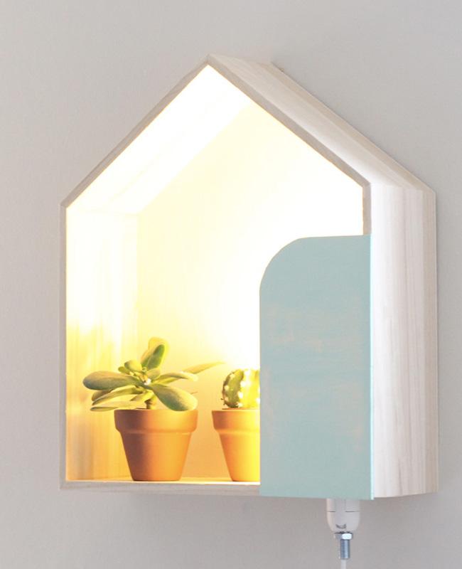 étagère murale maison diy lumineuse