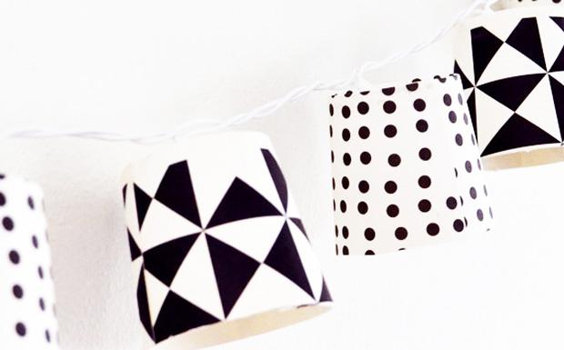 une guirlande diy avec des gobelets shake my blog. Black Bedroom Furniture Sets. Home Design Ideas